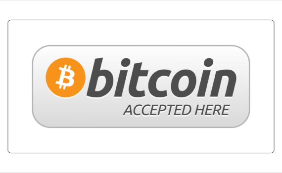 Accept bitcoin here